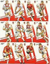 2012 NRL SELECT DYNASTY ST GEORGE DRAGONS TEAM SET 12 CARDS