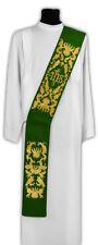 Green Deacon stole SD522-Z Vestment Estola para diácono Verde Diakonstola Étole