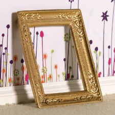 Miniature Gold coloured Picture Frame for a dolls house  65mm x  53mm