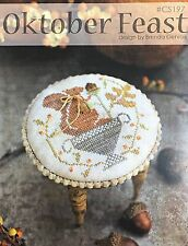Oktober Feast Autumn Squirrel With Thy Needle & Thread Cross Stitch Pattern