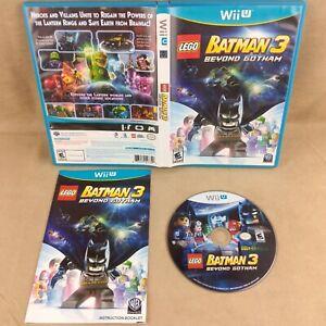Nintendo Wii U Lego Batman 3 Beyond Gotham - Tested & Working