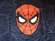 Pottery Barn Kids SPIDERMAN Quilted Standard Sham Super Hero EUC
