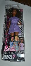 2017  BARBIE - FASHIONISTAS # 93 PURPLE LIVING LACE PETITE AFRICAN AMERICAN DOLL