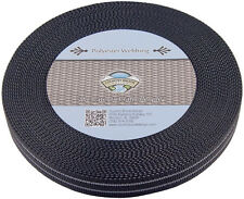 Country Brook Design® 1 Inch Reflective Black Polyester Webbing, 5 Yards