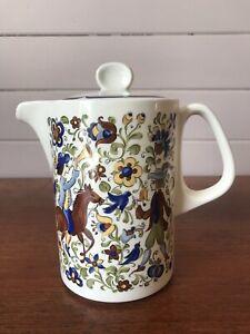 Vintage Villeroy And Boch Porcelain Troubadour Teapot Coffee Pot Discontinued