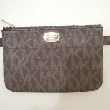 Michael Kors MK Signature Logo Fanny Pack Belt Waist Bag Brown Size M NWT