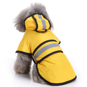 Reflective Pet Dog Raincoat Rain Coat Puppy Rainwear for Chihuahua