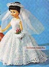 "BRIDE DOLL / BARBIE & 8"" to 19""  dolls - COPY doll crochet pattern"