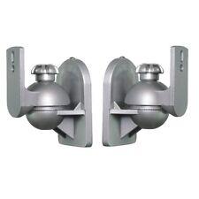 Paar Lautsprecherhalter Box Wandhalter Neigbar Dehbar z.B. Bose, Teufel Silber