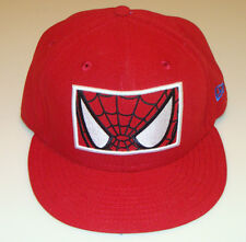 Spiderman New Era Cap Hat Fitted 7 3/4 Zoomed In Logo DC Comics 59Fifty Red