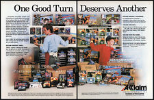 ACCLAIM / NINTENDO__Original 1988 Trade AD game promo__Industry Only advert