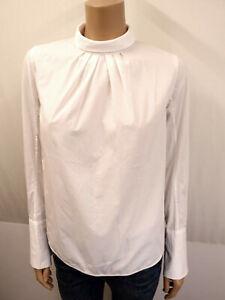 SANDRO PARIS Designer Bluse Gr.2 M 38 Blouse Knopfleiste auf dem Rücken Weiß
