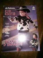 Beadshine Retired 1987 Patons Kid Knits Magazine Vintage Knitting Patterns