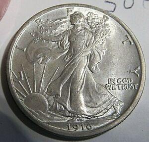 ORIGINAL UNCIRCULATED 1916-P WALKING LIBERTY HALF! GREAT BUY AT ONLY $499-!!!!