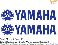 2 Pcs YAMAHA Logo Reflective Stickers Motorcycle Decals Stickers Best Gift