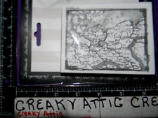 VINTAGE MAP FOAM RUBBER STAMPS LABLANCHE #1429 NIP