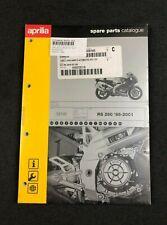 BRAND NEW GENUINE APRILIA RS 250 1998-2001 SPARE PARTS CATALOGUE AP88381W0