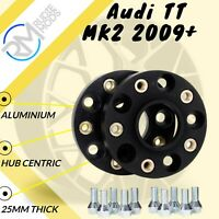 BLACK Audi TT MK2 2009 Onwards 5x112 57.1 25mm ALLOY Hubcentric Wheel Spacers