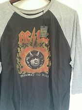 Mens Lucky Brand AC/DC Highway to Hell baseball t shirt XXL Angus young