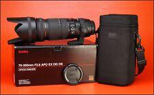 Sigma EX APO DG OS Objetivo Zoom F2.8 Estabilizador Óptico de 70-200mm Para Nikon en Caja