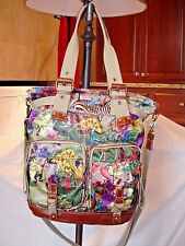 AB Oilily Tropical Rain Forest Jungle Print Tote Shoulder Bag Shopper Carry All