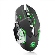 Wireless Game Mouse Silent Illuminated Mechanical 1800Dpi 2.4G USB Mouse 7 Color