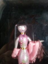 Lady With Elegance Collection Glass Ornament Pinks