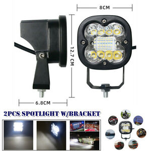 12V-36V 60W Motorcycle Offroad Square LED Spot Light Headlight Driving Fog Lamp