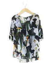 Topshop Blusa Para Mujer Floral Negro Tamaño 6