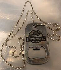 Jurassic World Dog Tag Rare Bottle Opener Collectors Item - Cinemark Theaters
