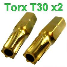 Torx Security Star+Pin T30 Screw driver Bit 2 pack tx30 torks trx TX30 20