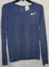 Nike Womens Size S Dri-Fit Knit Running Shirt LS Blue 831500-389 NWT