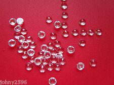 4mm white topaz loose gemstones rose cut £2.50p each.