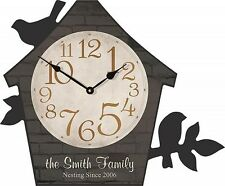 """Personalized Laser Engraveable Bird House Clock - 15"""" X 12½"""""""