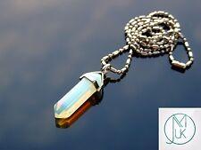 Opalite Crystal Point Pendant Manmade Gemstone Necklace Healing Stone Chakra