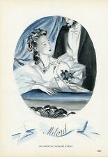 """""""MILORD PARFUM DU CHEVALIER D'ORSAY"""" Annonce originale entoilée PLAIRE 1944"""