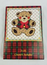 Vintage Montag Country Sampler stationary writing paper envelopes bear print