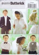 Butterick 4059 Sewing Pattern Children Bridal Jacket Veils Bow Tie Size 2 3 4 5