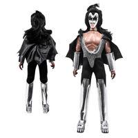 "KISS 2011 Love Gun S1 Gene Simmons Demon 12"" Retro MEGO Style Doll Display Case"