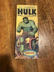 ORIGINAL BOX 1966 AURORA INCREDIBLE HULK MODEL ASSEMBLY KIT NO. 421-100