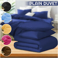 100% Brushed Cotton Duvet Cover with Pillowcase Bedding Set Single Double & King