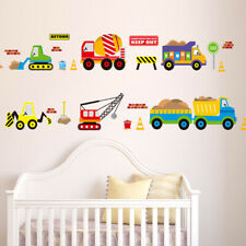 Childrens Cars Wall Stickers Transport Vehicles Decals Nursery Boys Bedroom Kids