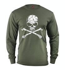 Men's long sleeve shirt pirate skull jolly roger decal gift idea for men
