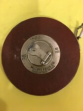 Vintage Millers Falls 100' Measuring Tape No 3100 Greenfield Mass.