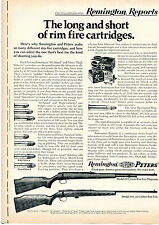 1972 Print Ad of Remington Reports Model 592 5mm Magnum & 581 22cal Rifle