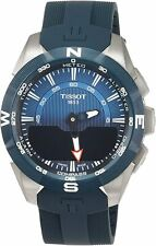 Tissot Men's T1104204704100 T-Touch 45mm Blue Dial Silicone Watch