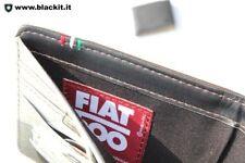 Portafoglio da uomo Fiat 500 classica, colore marrone chiusura a clip