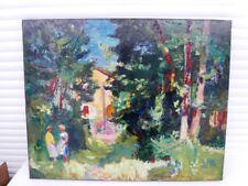 """BERTHOMME SAINT-ANDRE (1905-1977) """"LA MAISON D'ETAULES"""" GRANDE HUILE SUR TOILE"""