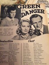 S1 Ephemera 1947 Film Article Freen For Danger Ronald Adam