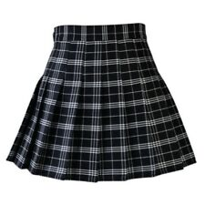 Women Lady Tennis High Waist Plaid Skater Flared Pleated Short Mini Skirt Dress